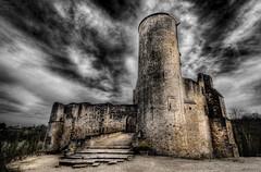 Rauzan Castle (BarneyF) Tags: sky france castle dramatic hdr bergerac photomatix lacitadelle rauzancastle