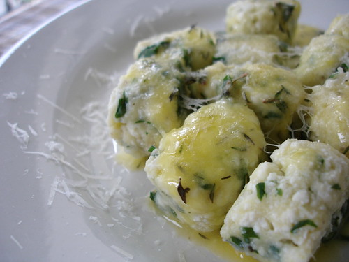 Ricotta gnocchi with lemon thyme butter sauce