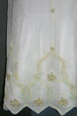 Blessing Gown Petticoat Hem Detail (gnarlyis3) Tags: baby clothing hand handmade embroidery made christening
