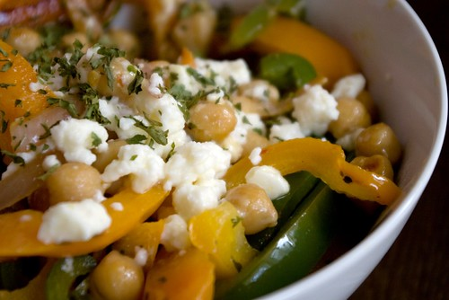 Chickpea and feta salad (thanks, Gordo)