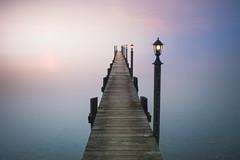 Foggy morning at the lake (Sunny Herzinger) Tags: chiemsee xf23mmf14 fujixpro2 sunrise chiemgau bavaria moody lake jetty seeonseebruck bayern germany de