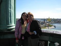 Maman et moi en haut de la tour