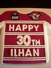 Manly Jersey Cake (Cre8acake) Tags: birthday sea sport cake football manly telstra jersey eagles nrl