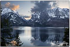 Tetons at Dusk (Jill's Junk) Tags: sunset mountains reflection bravo searchthebest wyoming tetons jillsjunk