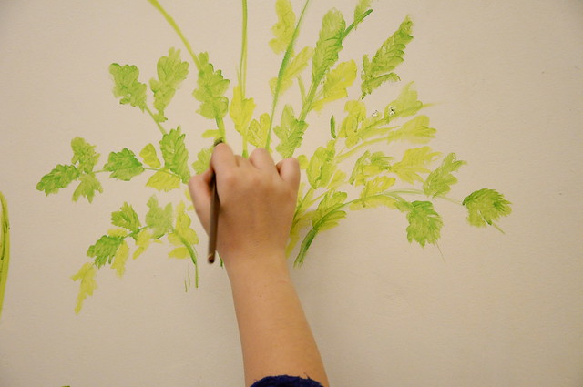 Painting some coriander