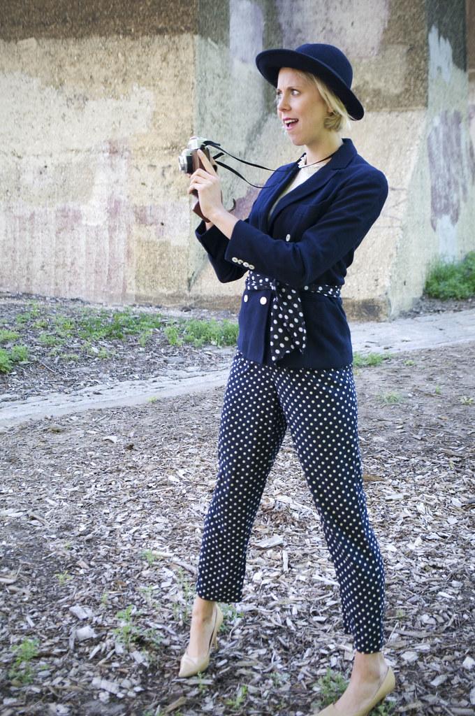 vintage fashion outfit polka dots sammy davis vintage