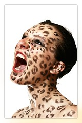 screaming (mad_airbrush) Tags: portrait woman girl beauty face studio eos ef50mmf14 leopard 30d