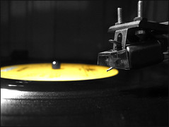 33 RPM (blonde_sage) Tags: turntable record stylus selectivecolor motorhead