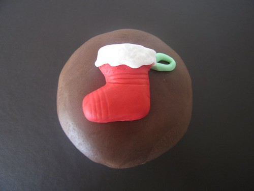 Test Christmas Cupcake Santa Stocking