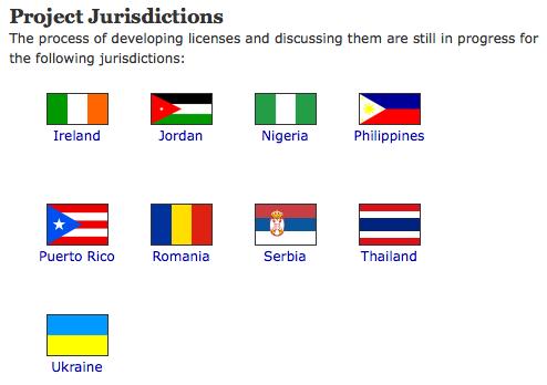 Creative Commons - Project Jurisdictions