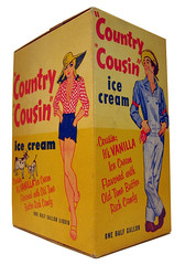 Country Cousin Ice Cream Carton (Neato Coolville) Tags: icecream 1950s carton 50 hillbilly farmgirl countrycousin