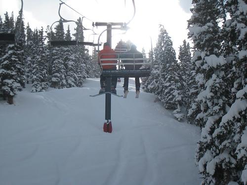 Lift i vackert vinterlandskap