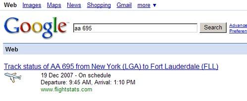 Flight Tracking on Google