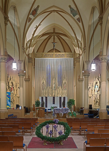 Saint Augustine Roman Catholic Church, in Saint Louis, Missouri, USA - nave