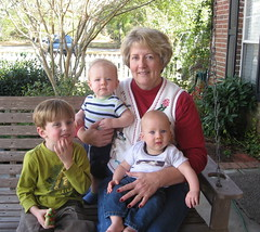 Grandma with her three boys.