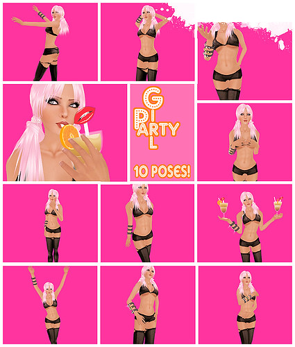 Juicy Party Girl Poses