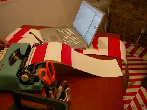 Candida Pagan, typewriter and computer