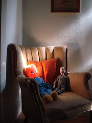 Mrs. Beasley must go (.Hollie.) Tags: orange baby fire scary doll glow ghost evil freaky burning freak sin babydoll devil glowing peewee scarydoll mrsbeasley