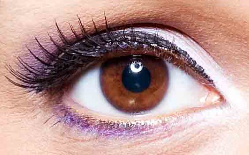 Purple eye shadow make-up