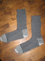 GENTLEMAN'S SOCK in Railway Stitch