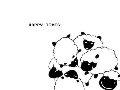 happy time sheep