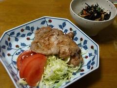 20080229_生姜焼き、ヒジキの煮物