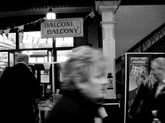 Cardiff Victorian Market - St David's Day 2008. (VEB Zardoz the Gravyboat) Tags: uk blackandwhite bw food white fish black blancoynegro apple monochrome southwales wales mono mac fuji noiretblanc zwartwit unitedkingdom britain cymru cardiff victorian cardiffindoormarket documentary bn software iphoto welsh schwarzweiss pretoebranco  reportage fujifinepix blancinegre galles cardiffmarket  svartvitt documentaryphotography inbiancoenero  bnvitadistrada  blancenegre  fujifinepixs3043800 cardiffvictorianmarket