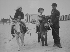 DONKEYS, MOTHER, HER COUSIN AND POOR RAGGED BOY, GORLESTON 1903 (spikeswurda) Tags: uk donkeys album norfolk gorleston 1903