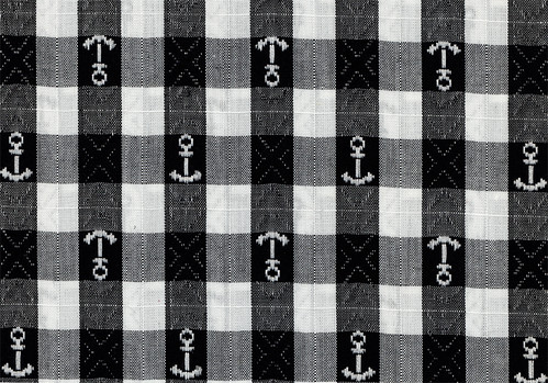 Vintage Fabric - Gingham Anchors