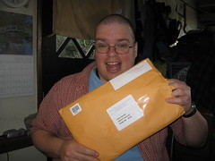 Hey!  An envelope from my agency!