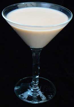 Brandy-Alexander Mixed Drink Cocktail