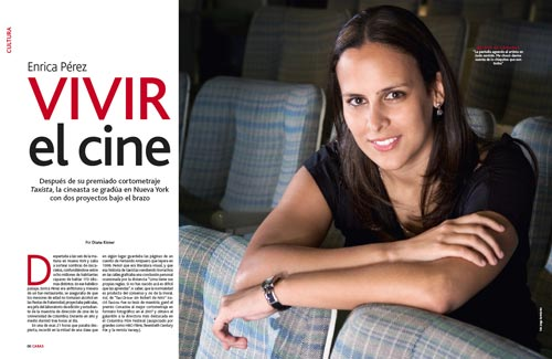 Enrica Pérez en la revista Caras