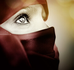 Arabian in Red (HMsa) Tags: girls red portrait people eye girl beautiful beauty face lady portraits photography eyes nikon faces uae hijab arab eyelash arabian niqab hmsa firstquality hejab bratanesque alemdagqualityonlyclub