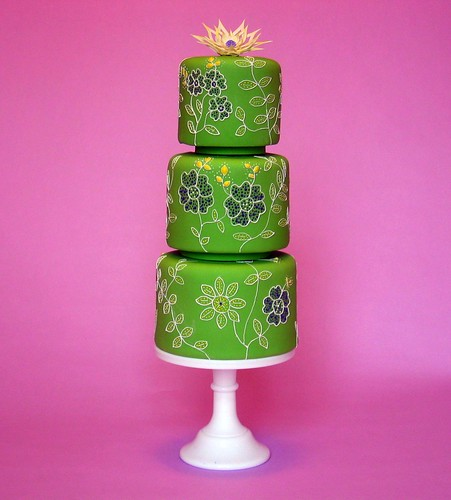 Keywords wedding cakes lime green embroidery summer wedding summer