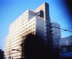 morning suginami-ku (soft car) Tags: f28 67 80mm plaubel makina nikkorlens fujirealaace120