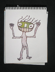 Enfermo (n e g) Tags: lago bosque etc crayon sick malade neg druida mitico enefermo