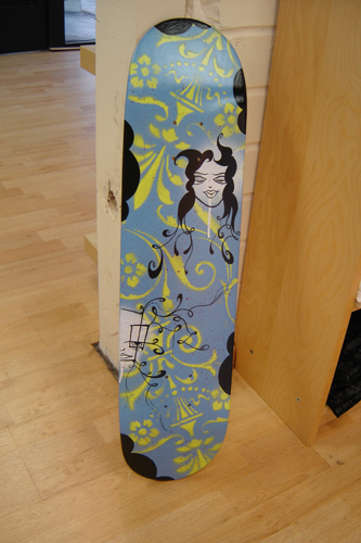handpainted skateboard