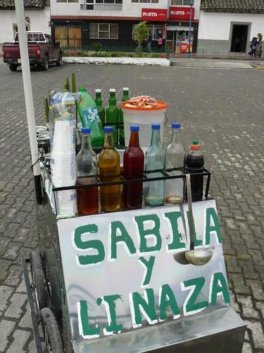 cotacachi health information - juan prepares the aloe vera drink