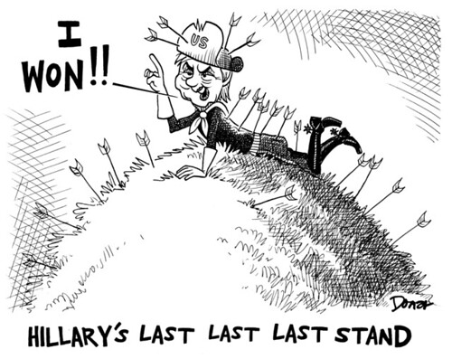 hillary clintons last stand campaign cartoon