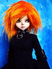 Halloween Girl 5 (ranmanekineko) Tags: orange black halloween boots gothic goth delf ani blackdress mnf furwig kiddelf qixa cpani