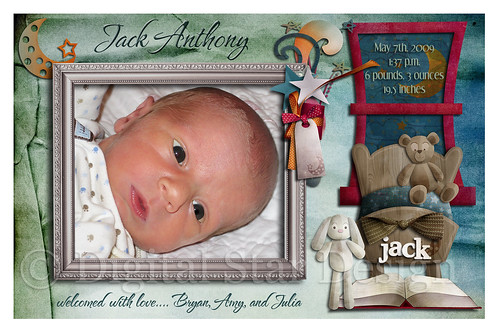 Birth Announcement Example, 6x4, full-size