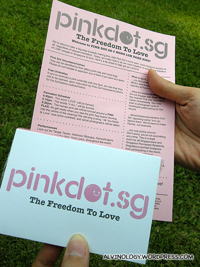 We were handed a pack of free tissue paper and a leaflet once we stepped into the park