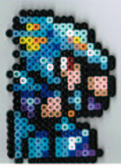 Kain - Final Fantasy IV (lombo311) Tags: blue red art beads ninja crafts nintendo gray collection final fantasy rpg hero nes finalfantasy perler snes bezerker