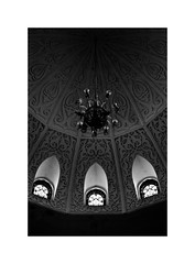 day 128: craftmanship in the past (swarat_ghosh) Tags: light shadow blackandwhite india 50mm hall nikon asia university architectural dome inside hyderabad interiordesign craftmanship osmania artandcraft d3000