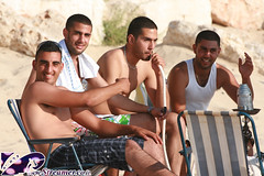 IMG_9193 (Streamer -  ) Tags: ocean blue girls sea two sexy beach boys water hair israel model eyes sand yam teen bikini  tanned  streamer     ashkelon             ashqelon  tzalam