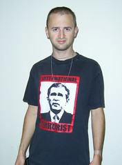 DomNeo (Vegan Butterfly) Tags: people boyfriend shirt person george bush war peace killing iraq 911 protest terrorist tshirt international vegetarian murder racism troopsoutnow domneo