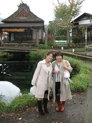 Chizuko,Tamachan at Fuji Lake