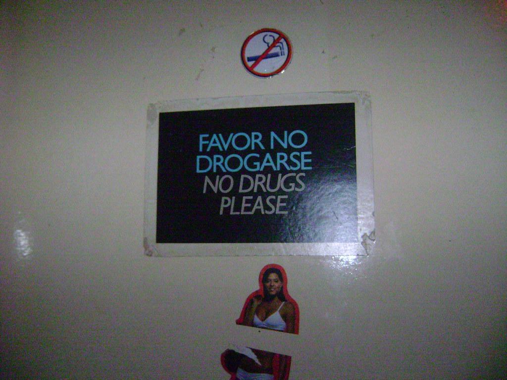Chicos, porfavor, no se droguen