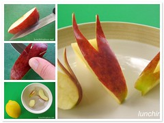How to make apple rabbits
