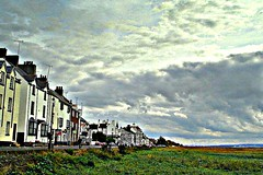 a parkgate impression (~ paddypix ~) Tags: ukandireland sky shoreline picasa nature moodyblues green doorsandwindows colour clouds buildings picnik hdrish